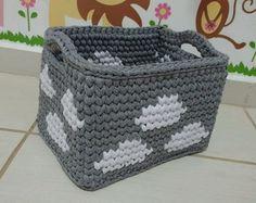 Crochet Storage, Crochet Diy, Cotton Cord, Crochet Designs, Diy And Crafts, Handmade, Crochet Baskets, Crocheting, Farmhouse Rugs