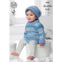 Baby Set in King Cole DK (4309) - KIT
