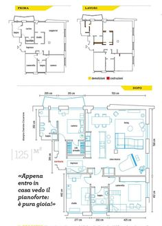 from Casafacile settembre 2017 Floor Plans, Floor Plan Drawing, House Floor Plans