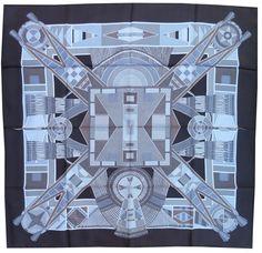 """175 HERMES SILK SCARF """"L ART INDIEN DES PLAINES"""" 90CM CARRE FOULARD Sophie… ced84ee22dd"""