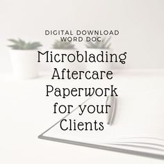 Microblading Aftercare, Microblading healing day by day, Microblading aftercare day by day Editable Word Doc. Eyebrow Makeup Tips, No Eyeliner Makeup, Beauty Makeup, Microblading Aftercare, Microblading Eyebrows, Lash And Brow Tint, Makeup Business Cards, Ombre Technique, Brow Tattoo