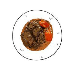 #음식 #그림 #일러스트레이션 #일러스트 #boeufbourguignon #food #nourriture #draw #french #frenchfood #drawing #digital #sketch #fastdraw #dessin #cuisine