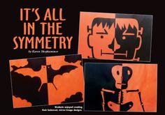 art lesson, symmetri activ, symmetri lesson, halloween art
