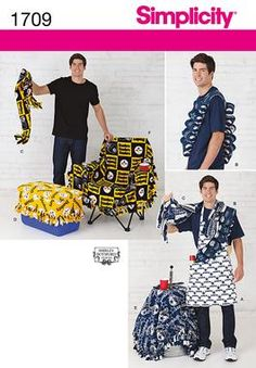 I have never laughed so hard as when I first saw this pattern for a beer bandolier!  Simplicity Creative Group - Tailgating Accessories