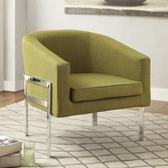 Coaster Contemporary Accent Chair, Green