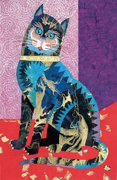 .Paper Cat Painting by Bob Coonts .