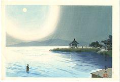 Artist: Tokuriki Tomikichiro  Title: Biwa Lake