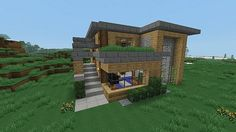Modern Chunk House http://www.planetminecraft.com/project/16x16-modern-house-2561060/
