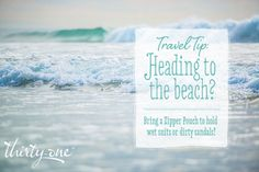 Before your beach vacation, check out one of our top tips! Buy a zipper pouch now at www.mythirtyone.com/WhateverFloatsYourTotes/