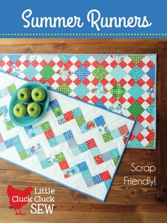Summer Runners Pattern by Cluck Cluck Sew Beautiful beautiful!  I must make this runner!