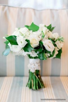 Lisianthus Wedding Bouquet | Bridal Bouquet in White and Green with Roses and Lisianthus - The ...
