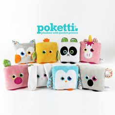 Poketti Plushies with Pocket Powers Series2 Collection