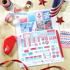 Summer Picnic Planner Stickers – Free Printable