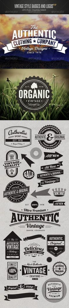Vintage Style Badges and Logos Vol 2: