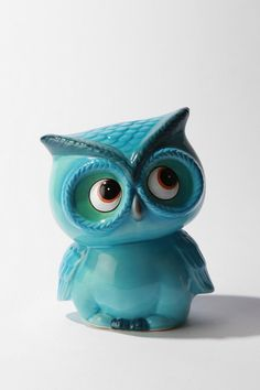 Leo The Owl Bank - contemporary - accessories and decor - - by Urban . My Favorite Color, My Favorite Things, Owl Always Love You, Little Owl, Needle Felted, Owl Art, Cute Owl, Teal, Kawaii
