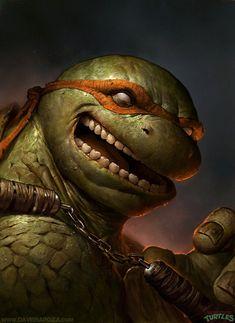 Michelangelo – TMNT by Dave Rapoza. Geekdom, Geek out, Fun, Funstuff, Nerd, Nerdy Fragyl Mari Lady Gamer Nerd Nut