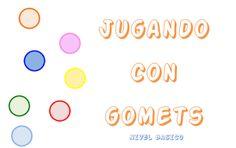 Mª Eugenia Sáez, del blog Un mundo especial, ha confeccionado estas fichas para trabajar las formas, colores y tamaños con gomets. A los pe...
