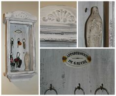 DIY key cabinet from an old clock