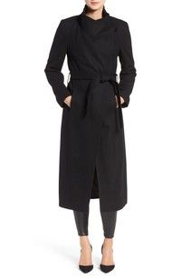 Enjoy exclusive for Kenneth Cole New York Fencer Melton Wool Maxi Coat online - Alltrendytop Hobbs Coat, Langer Mantel, New York, Maxi Coat, Wrap Coat, Capsule Wardrobe, Capsule Outfits, Work Wardrobe, Fall Wardrobe