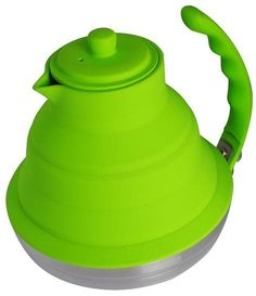 Collapsible Stove Top/Tea Kettle.  Can be used on gas, electric or Induction burners.  Collapses for easy storage.
