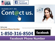 Does Facebook Phone Number @1-850-361-8504 take charges to make a call? No, our Facebook Phone Number @1-850-361-8504 doesn't take a solitary dime from you to make an approach this number. Likewise, you can get to this number round the clock and from each edge of the globe. What do you need now? Dial our number and benefit our administrations at the earliest opportunity as we have extraordinary offers for prompt risers. http://www.mailsupportnumber.com/facebook-technical-support-number.html…