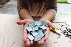 Ímãs feitos com pastilhas de vidro