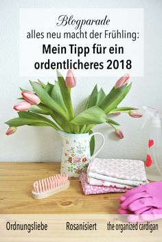 Aufruf zur Blogparade - Alles neu macht der Frühling: Mein Tipp für ein ordentlicheres 2018 Life Hacks, Organizer, Cleaning, Blog, Plants, Organisation, Organizing Clutter, Housekeeping, Binder