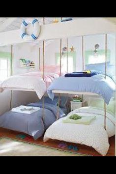 Kids bunk beds...I wonder how I can make these floating kinda bunk beds
