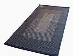 Aada- matto. Kotimainen puuvillamatto. Sininen