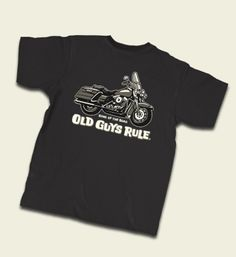 "Old Guys Rule "" Road King "" w Pocket "" King of The Road "" Motorcycle s s M 