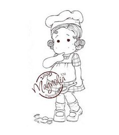 "A Little Yummy For Your Tummy Cling Stamp 6.5""X3.5"" Package-Oops Tilda"