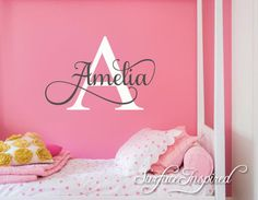Nursery Wall Decal Personalized Names Wall Decals For Kids Amelia Styl | Surface Inspired Wall Decals