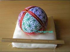 """Temari Lecture 130. How to make a Temari """"8-leaf pattern of hemp"""". - YouTube"""