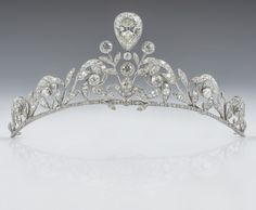 The Lannoy Family Tiara Was Crafted By Altenloh In Brussels, Belgium - Which Was Founded In 1878 - And Consists Of 270 Old Cut Diamonds Set In Platinum.  The Silversmith And Jeweler's Shop Has Attracted The Wealthy Belgian Aristocracy And Well-Off International Clientele.