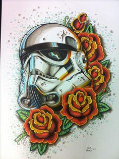Storm trooper tattoo for the dark side of the Star Wars freak