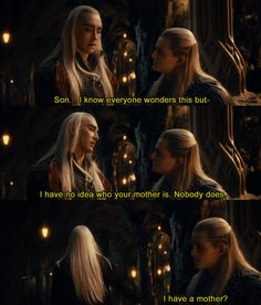 The real reason Legolas's mother is never mentioned.