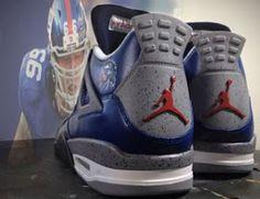 "THE SNEAKER ADDICT: Air Jordan 4 ""NY Giant Cement"" Mache Custom IV Sneaker (Images) Jordan 4, Jordan Shoes, Sneakers Fashion, Sneakers Nike, New York Giants, Shoe Game, Notre Dame, Air Jordans, Kicks"