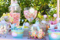imagenes mesas de dulces comunion niñas - Buscar con Google