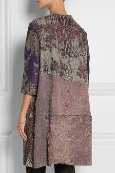 By Walid - Embroidered silk coat By Walid, Silk Coat, Vintage Embroidery, Hand Embroidery, Embroidery Designs, Bohemian Mode, Boho Fashion, Womens Fashion, Embroidered Silk