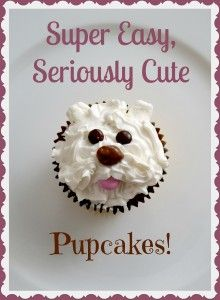 These dog face cupcakes will look like you spent forever on them....but they are super easy to make!