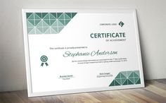 Triangles docx business certificate by Inkpower on Creative Market