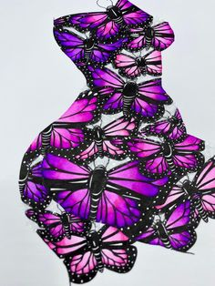 Souls Awakening (pink) Original ink drawing with diamond dust - by Emily Penfold