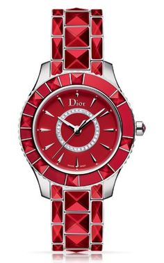 Christian Dior Christal Red Dial Red Ceramic Ladies Watch CD143111M001 *** Click image to review more details.