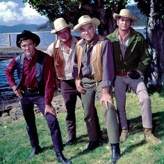 Bonanza was a TV Western about the Cartwrights of the Ponderosa. Ben Cartwright and his sons, Adam, Hoss, and Little Joe. Bonanza Tv Show, Tv Westerns, Watch Tv Shows, Memories Quotes, Cowboy Hats, Movie Tv, Sons, Fashion, Moda