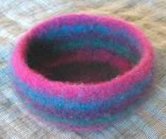 Felted bowl ... knit in brown so it looks like a nest for Spring Equinox 'eggs'?