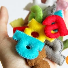 Create these darling fabric alphabet letters with some VERY simple supplies!