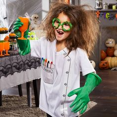 This wacky costume will take your little one to a whole new level of evil genius.