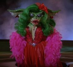Since we're all celebrating The Babadook as the new gay icon, let's also take a moment to celebrate Greta, the transgender legend from Gremlins She embraced her new identity and encouraged others. Halloween Cosplay, Halloween Costumes, Halloween 2016, Halloween Stuff, Halloween Makeup, Halloween Ideas, Gremlins Costume, Movie Sequels, Babadook