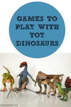 Lots of fun ideas for games to play with toy dinosaurs. All simple and mess free
