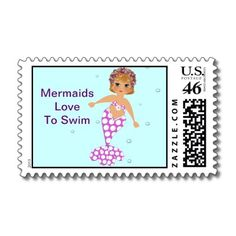 Mermaids Love To Swim Cute Picture US Postal Stamps  Picked this one for Shelley!!